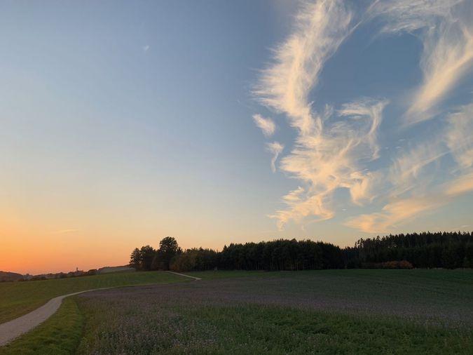 Mit dem Rad in den Sonnenuntergang